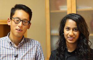 Swetha poses alongside her research partner